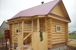 Деревянная баня из бревна