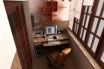 использование балкона — обустраиваем кабинет