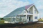 здания с использованием ЛСТК