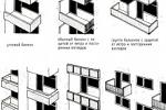 Виды и типы балконов