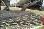 Армированная бетонная стяжка под силовые агрегаты